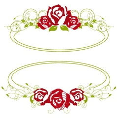 red roses vector image vector image