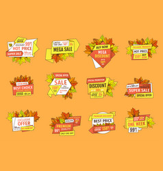 sale super quality special offer set of price tags vector image