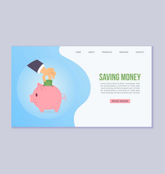 saving money web human hand vector image