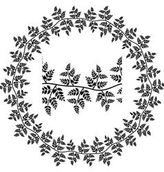 Seamless ornamental leaf frame vector