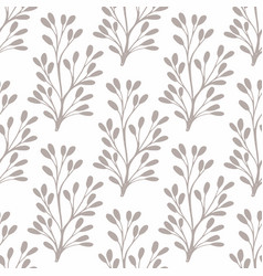 seamless pattern with small stylized plants for vector image