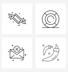 Set 4 ui icons and symbols for arrows swim vector