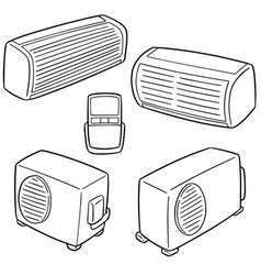 set of air conditioner vector image