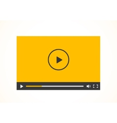 Simple abstract icon of video player vector