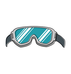 Ski googles isolated icon vector