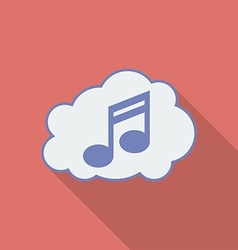 Sound cloud icon Modern Flat style with a long vector image