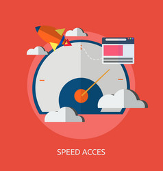 speed and acces conceptual design vector image