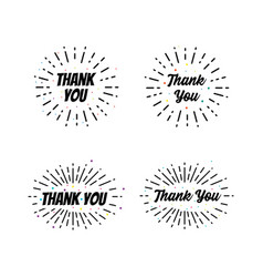 thank you lettering calligraphic lettering modern vector image
