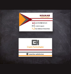 Tri lines business card vector