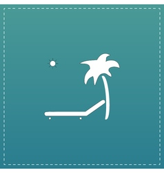 Tropical resort beach Sunbed Chair - icon isolated vector