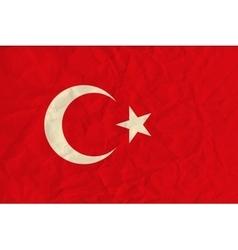 Turkey paper flag vector image