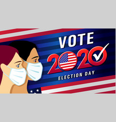 vote 2020 presidential election usa with people wi vector image