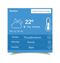 Weather Widgets 2 vector