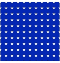 White stars on blue background seamless pattern vector image