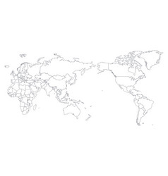 world map outline contour silhouette - asia in vector image