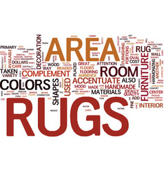 Area rugs text word cloud concept vector