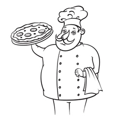 Cook Pizza vector image vector image