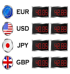 Currency rate board vector image