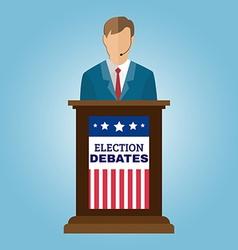 Election Debates Flyer vector image