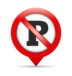 No Parking Sign vector image