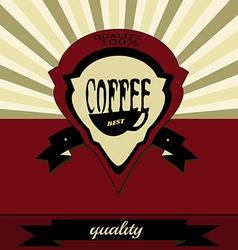Retro coffee label vector image vector image