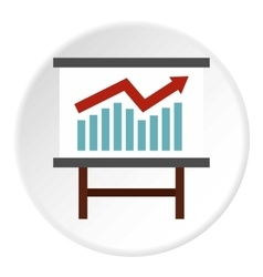 Table with statistics icon flat style vector image vector image
