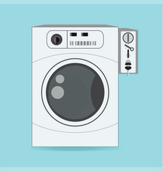 coin washing machines with integrated payment vector image