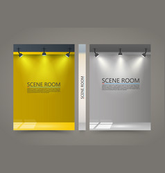 color room with a light source banner lighted vector image vector image