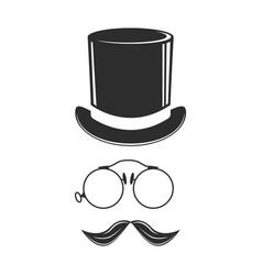 gentleman fashion hat modern elegance black cap vector image vector image
