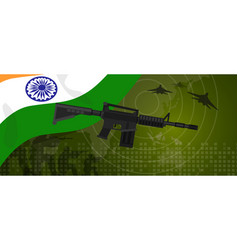 india military power army defense industry war and vector image vector image