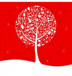 musical tree2 vector image