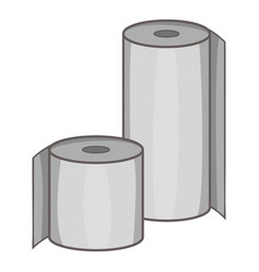toilet paper icon cartoon style vector image