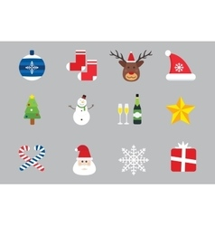Christmas holiday icons set vector image