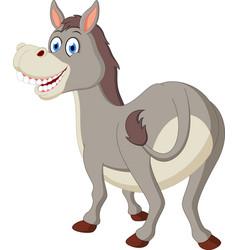 happy donkey cartoon vector image