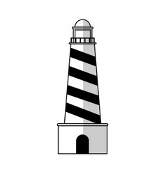 Lighthouse tower icon vector