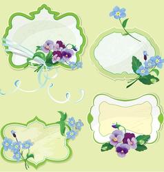 Set of Birthday Valentines Day or Wedding frames vector image