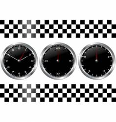 watches and chronographs vector image vector image