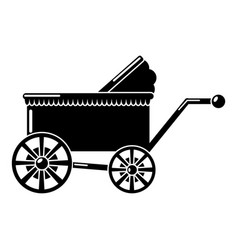 baby carriage ancient icon simple black style vector image vector image