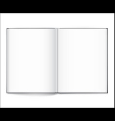 blank of open book with cover on white background vector image vector image