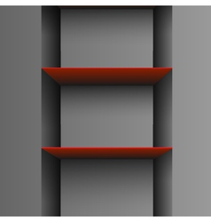 empty shelf vector image vector image
