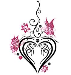 Heart butterflies vector image