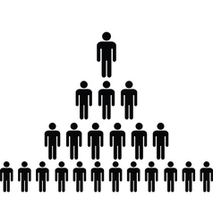 Human pictogram pyramid vector