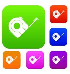 roulette construction tool set color collection vector image