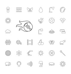 33 bright icons vector