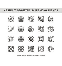 Abstract geometric shape monoline 73 vector