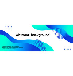 abstract long banner blue gradient liquid vector image