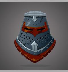 antique knight helmet cartoon vector image