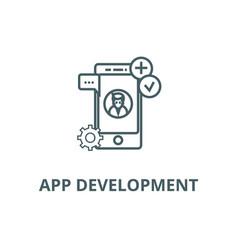 app development line icon app development vector image