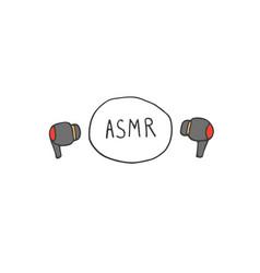 Asmr sounds concept vector