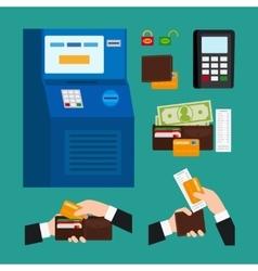 ATM Terminal Usage vector image
